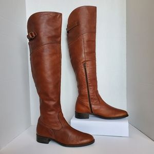 Brown's Shoes Over the knee Leather Riding Boots